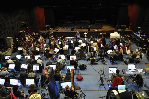 Orchester arbeitet