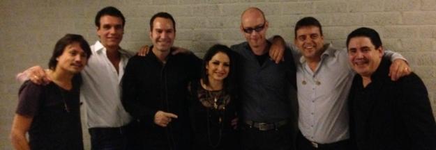 Gloria Foto mit Band und Edwin