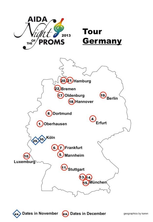 Map Tour Germany 2013
