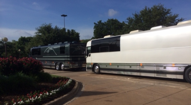 Big tourbus on the road