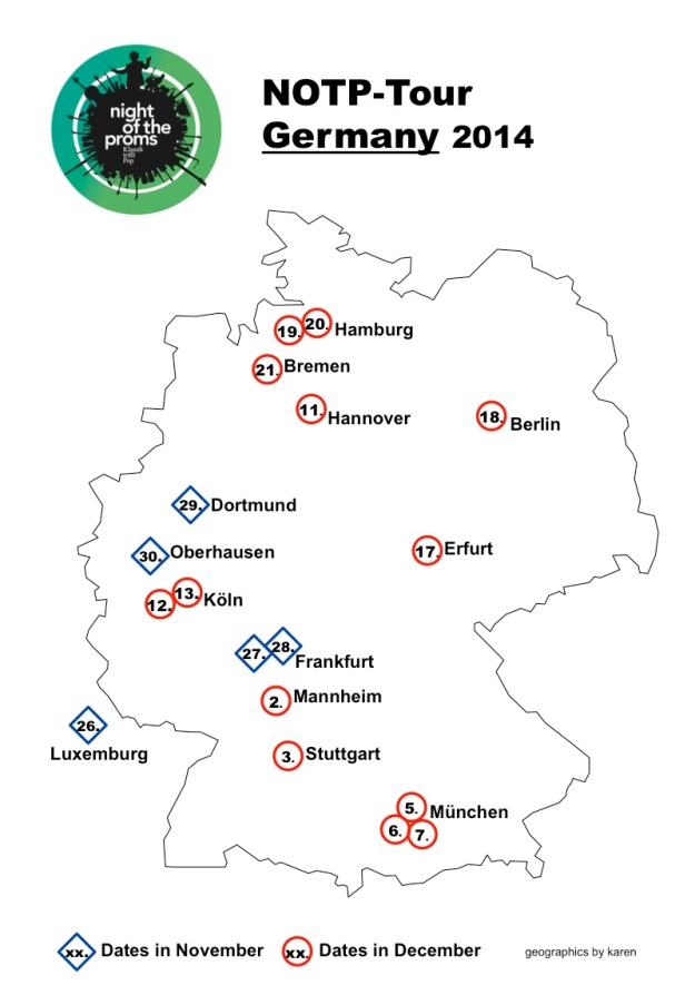 Map Tour Germany 2014