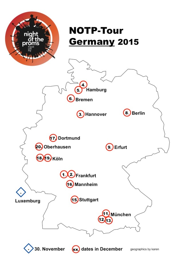Map Tour Germany 2015